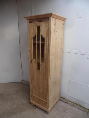 Great Pine 1 Door Linen / Bathroom / Storage Cupboard to wax / paint (1 of 9)