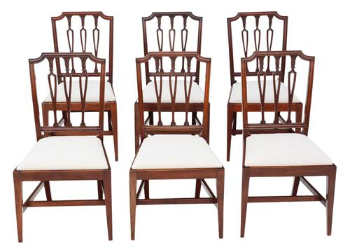 Set of 6 19th Century Mahogany Dining Chairs (1 of 7)