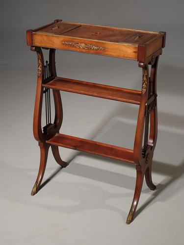 Attractive & Slender Mid 19th Century Mahogany Tricoteuse (1 of 8)