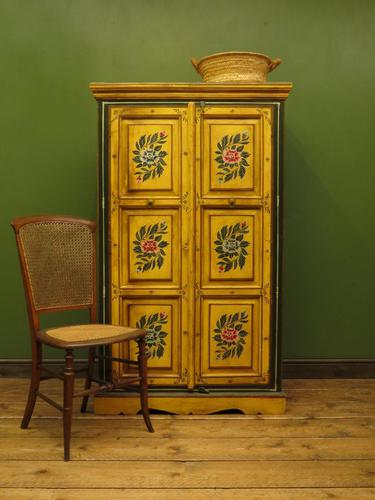 Vintage Indian Folk Art Bohemian Painted Cabinet Larder Linen Press Cupboard (1 of 13)