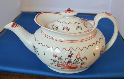 18th Century New Hall  Boat-shaped Teapot (1 of 5)