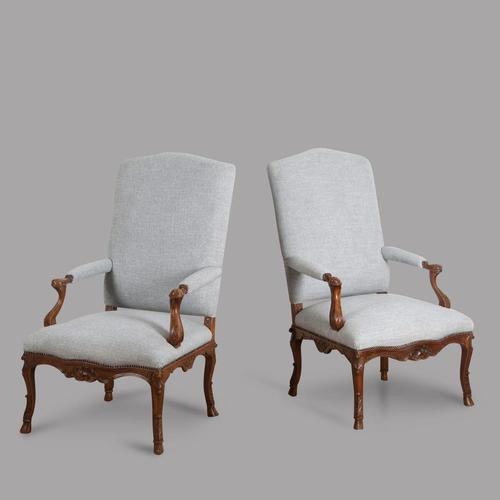 Pair of French Late 19th Century Armchairs (1 of 5)