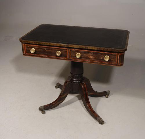 Elegant 4 Drawer Regency Period Library Table (1 of 6)