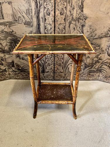 19th Century Bamboo Lacquered Occasional Table (1 of 4)