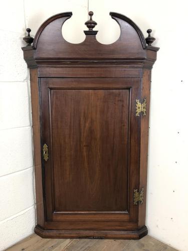Antique Georgian Mahogany Hanging Corner Cupboard (1 of 11)