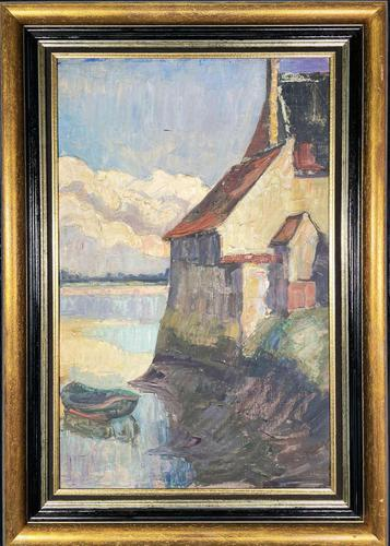 Oil of Loire Scene (1 of 3)