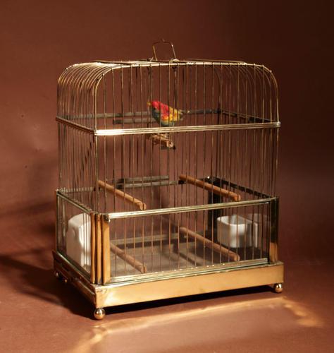 Brass Very Decorative Bird Cage c.1920 (1 of 8)