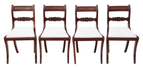 Set of 4 Regency C1825 mahogany dining chairs 19th Century (1 of 8)