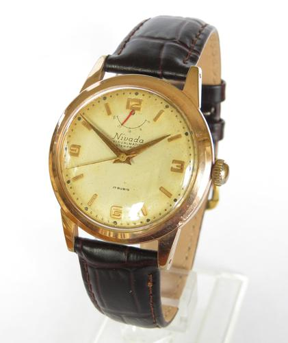 Gents 1950s Nivada Visualmatic Watch, Power Reserve Indicator (1 of 5)