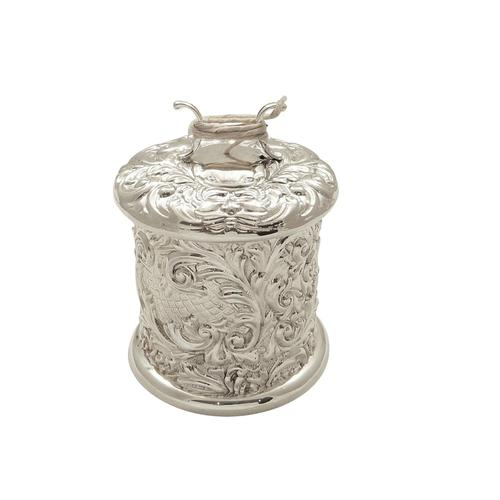 Antique Victorian Sterling Silver String Box / Holder  1900 (1 of 9)