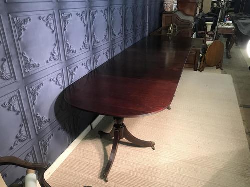 Mahogany Triple Pedestal Dining Table (1 of 10)