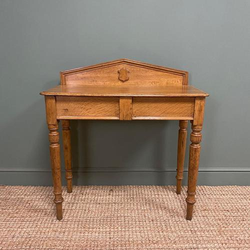 Quality Victorian Golden Oak Antique Hall Table (1 of 7)