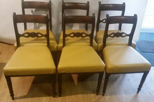 Set of 6 Regency Period Mahogany Dining Chairs (1 of 6)