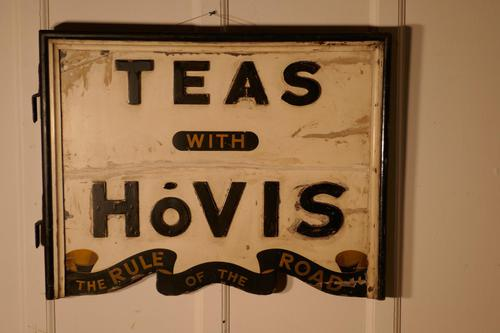 3 Dimensional Double Sided Wooden Hovis Tea Shop Sign (1 of 2)