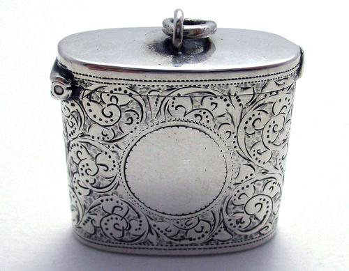 Beautiful Antique Victorian 1895 Solid Sterling Silver English CHESTER Vesta Case Match Box (1 of 9)