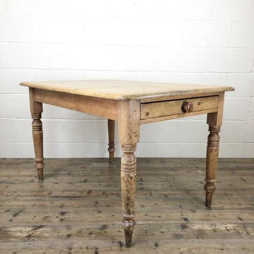 Antique Pine Farmhouse Kitchen Table (1 of 10)