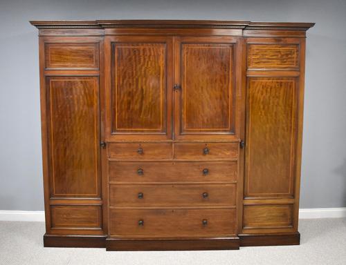 19th Century Mahogany Breakfront Wardrobe (1 of 12)