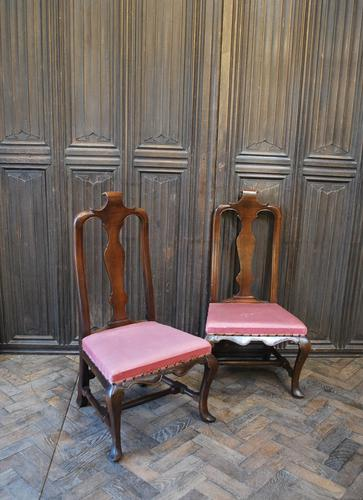 Pair of Queen Anne Period Child's Chairs (1 of 6)