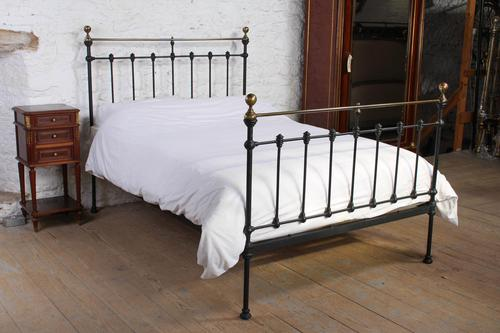 Classic Victorian Double Brass & Iron Bed (1 of 6)