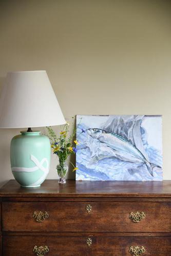 Still Life - Mackerel Oil Painting (1 of 11)