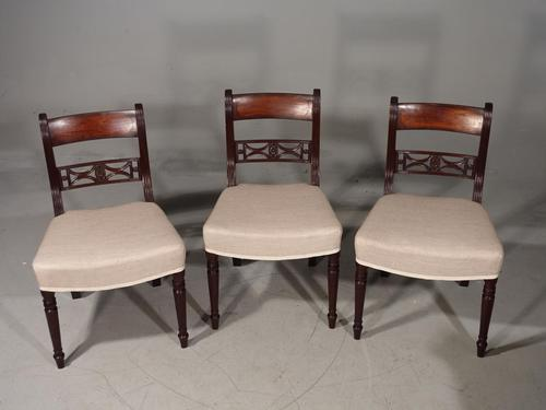 Attractive Set of 3 Regency Period Mahogany Framed Chairs (1 of 8)