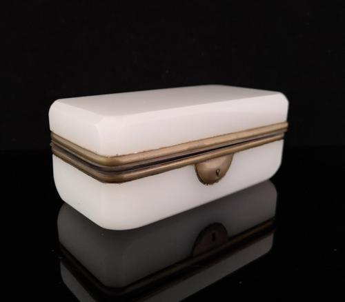 Antique French Opaline Glass Casket (1 of 11)