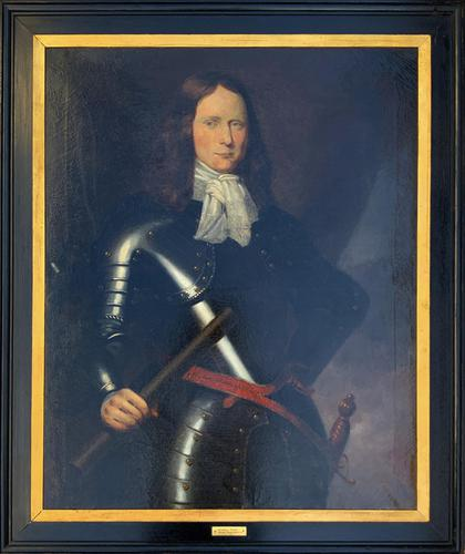 Huge Oil Portrait Painting of 17th Century General John Richmond Webb (1 of 16)
