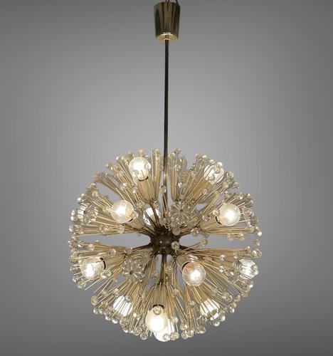 Vintage Mid Century Chandelier Sputnik Emil Stejnar Dandelion Style 16 Lights (1 of 7)