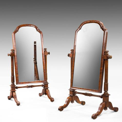 Pair of Mid 19th Century Children's Cheval Mirrors (1 of 5)