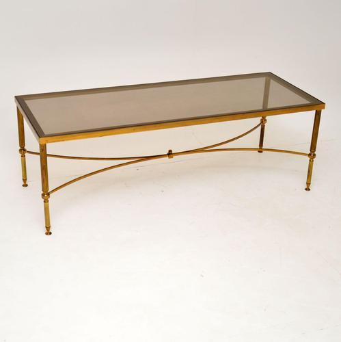 1950's Italian Brass & Glass Coffee Table (1 of 7)