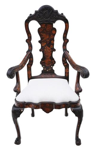 18th Century Dutch Marquetry Elbow Armchair (1 of 7)