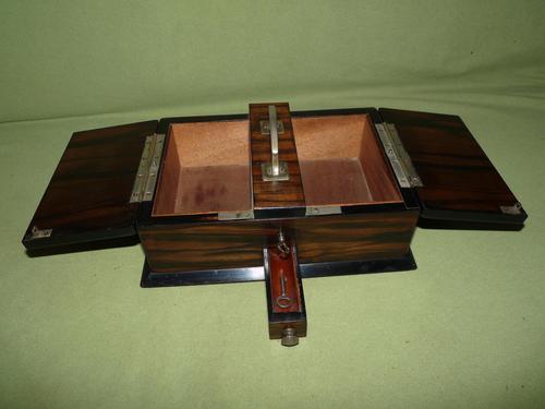 Macassar Ebony Jewellery / Trinket / Cigar Box c.1900 (1 of 11)