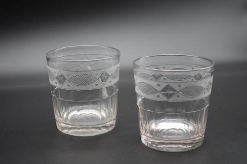 Unusual Pair of Late Georgian Whisky Tumblers (1 of 2)