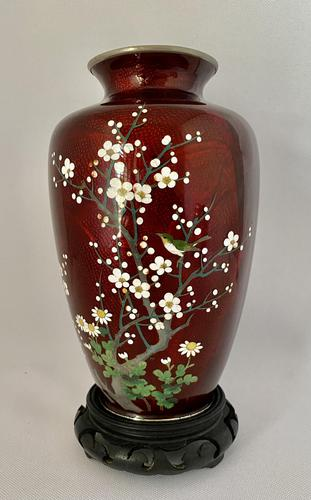 Japanese Gin Bari Cloisonne Vase. c.1920 (1 of 7)