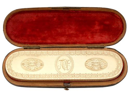 22ct Yellow Gold Toothpick Case/holder with Mirror - Antique George III (1779) (1 of 15)
