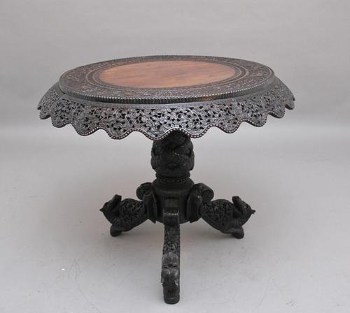 19th Century Burmese Carved Centre Table (1 of 5)