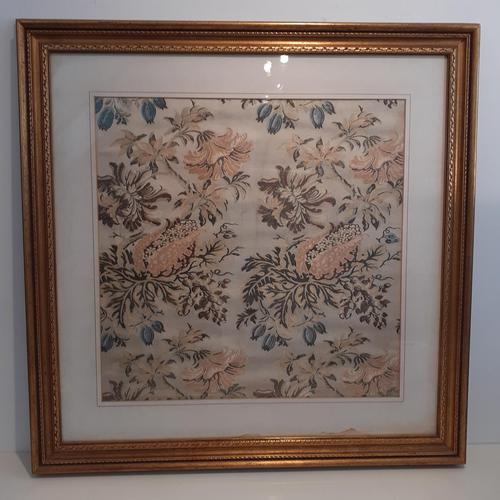 Framed Indian Fabric, 1783 (1 of 3)