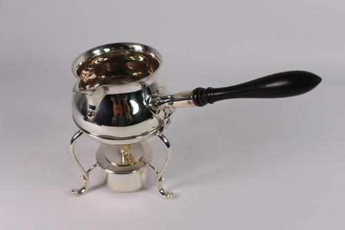George V Heavy Gauge Silver Brandy Warmer on Stand (1 of 5)