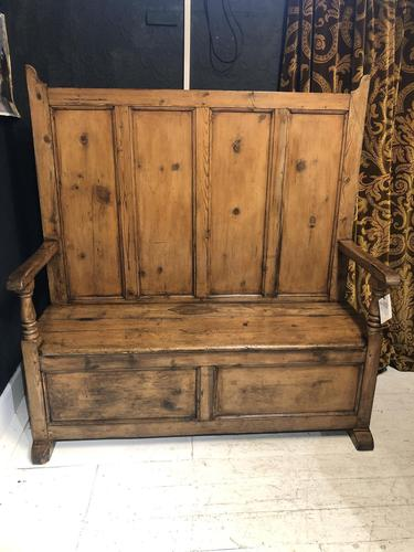 Mid 19th Century Pine Settle (1 of 7)
