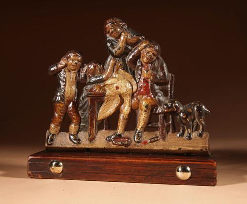 Original Painted Cast Iron Ornament (1 of 4)