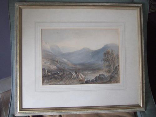 19th Century Watercolour of Mountainous Landscape 'unsigned' (1 of 7)