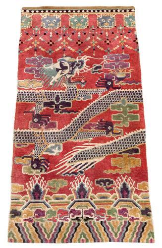 Antique Chinese Pillar Rug (1 of 13)