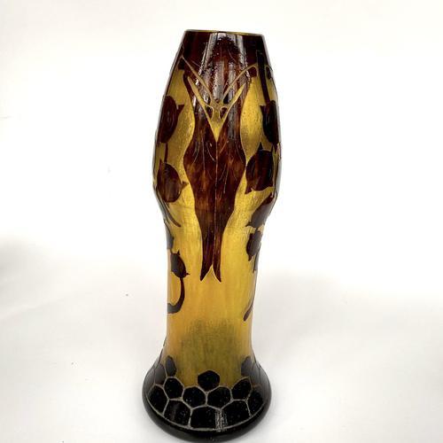Le verre français acid etched glass vase (1 of 6)