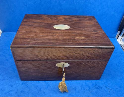 William IV Rosewood Jewellery Box With A Side Drawer (1 of 8)