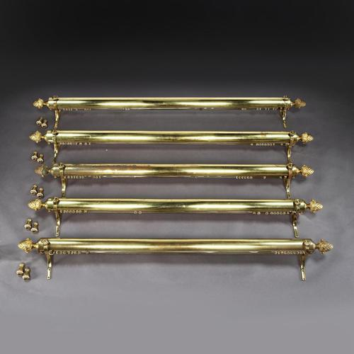 Set of Five Brass Curtain Rails removed from Downing Street (1 of 10)