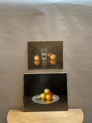 2 Spanish School Still-life Oil Studies (1 of 8)