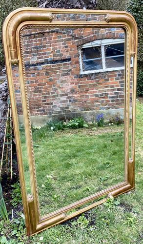 French Gilt Louis Philippe Margin Mirror (1 of 9)