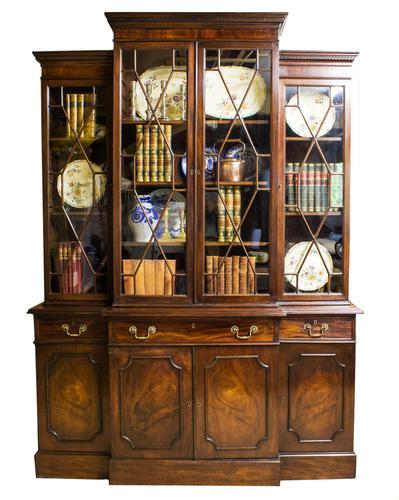Antique 19th Century Mahogany Breakfront Bookcase (1 of 12)