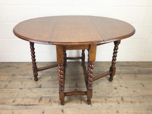Early 20th Century Antique Oak Gateleg Table (1 of 8)
