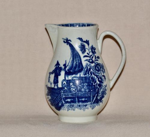 "18th Century Worcester Porcelain ""Fisherman & Cormorant"" Sparrow-beak Jug (1 of 7)"